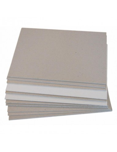 Cartón Gris 1 cara Blanco